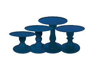 Boleira Mosaico - Liso - Azul Petróleo - Tamanhos  P, M, G e GG - 01 Unidade - Só Boleiras - Rizzo Festas
