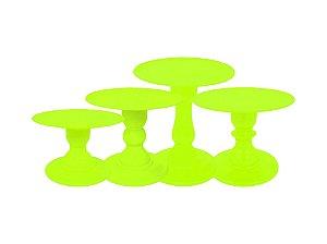 Boleira Mosaico - Neon - Amarelo - Tamanhos  P, M, G e GG - 01 Unidade - Só Boleiras - Rizzo Festas