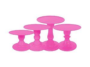 Boleira Mosaico - Neon - Rosa - Tamanhos  P, M, G e GG - 01 Unidade - Só Boleiras - Rizzo Festas