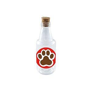 Garrafinha de Plastico 50ml com Tampa Rolha - Festa Cachorrinhos - 10 Unidades - Rizzo Embalagens