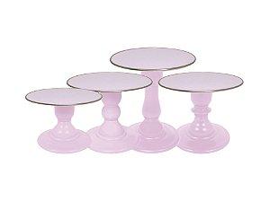 Boleira Mosaico - Premiun - Filete Rosa Claro - Tamanhos  P, M, G e GG - 01 Unidade - Só Boleiras - Rizzo Festas