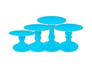 Boleira Mosaico - Premiun - Filete Azul Céu- Tamanhos  P, M, G e GG - 01 Unidade - Só Boleiras - Rizzo Festas