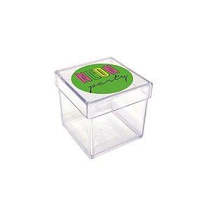Caixinha Acrílica para Lembrancinha Festa Neon - 20 unidades - Rizzo Festas