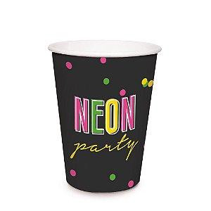 Copo de Papel 240ml - Festa Neon - 08 unidades - Cromus - Rizzo Festas