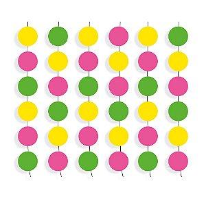 Cortina Decorativa - Festa Neon - 01 unidade - Cromus - Rizzo Festas