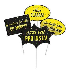 Plaquinha Divertida Festa Neon - Cromus - Rizzo Festas