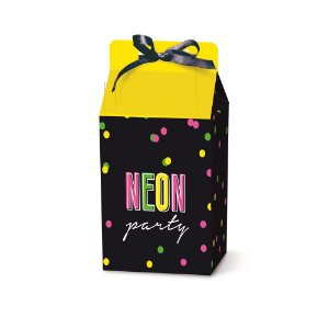 Caixa Leiteira Festa Neon  - 8 unidades - Cromus - Rizzo Festas
