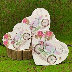 Kit Caixa Rígida Coração c/ Bicicleta - 03 ou 01 unidade - Rizzo Embalagens