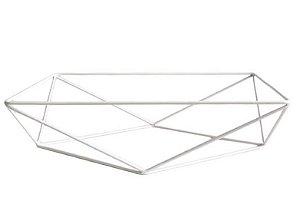 Base aramada triangular para bandeja - Branco - Rizzo Festas