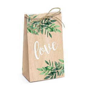 Caixa Special Trapézio Cultive Amor - Mini Wedding  7,5x4x13cm  - 08 unidades - Cromus - Rizzo Embalagens