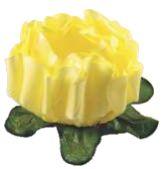 Forminha para Doces Finos - Rosa Maior Amarelo Claro - 40 unidades - Decora Doces - Rizzo Festas