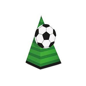 Caixa Cone com Aplique - Festa Futebol - 08 unidades - Cromus - Rizzo Festas