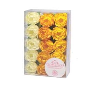 Forminha para Doces Finos - Bela Tons Amarelos - 30 unidades - Decora Doces - Rizzo Festas