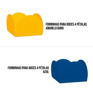 Forminhas para Doces 4 Pétalas 50 unidades NC Toys Rizzo Embalagens