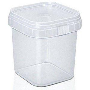 Pote com Lacre Quadrado 500ml - WS Plásticos Rizzo Embalagens
