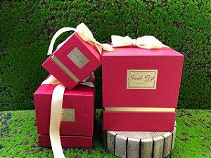 Kit Caixa Rígida Sweet Gift Com Laços - 03 Unidades - Rizzo Embalagens