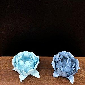 Forminha para Doces Finos - Bela Duo Azul Bebê e Azul Chumbo - 20 unidades - Decora Doces - Rizzo Festas