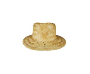 Mini Chapéu de Palha 12cm x 07cm - 01 Unidade - Rizzo Festas