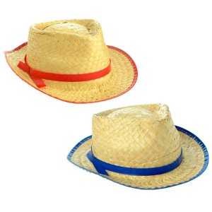 Chapéu Malandrinho de Palha - Cores Variadas - 01 Unidade - Rizzo Festas