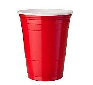 Copo Americano de Plástico Vermelho 400ml - 25 unidades - Trik Trik