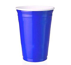 Copo Americano de Plástico Azul 400ml - 25 unidades - Trik trik