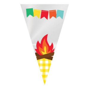 Cone Festa Junina Arraia - 50 Unidades - Cromus - Rizzo Festas