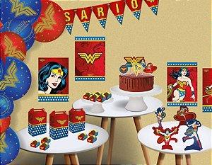Kit Festa Mulher Maravilha - Festcolor - Rizzo Festas