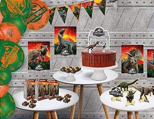 Kit Festa Jurassic World Dinossauro - Festcolor - Rizzo Festas