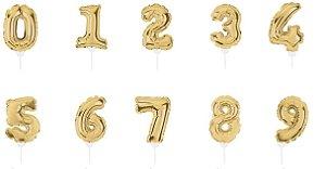 Mini Balão Autoinflável Dourado - 01 Unidade - Cromus Festas - Rizzo Festas