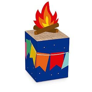 Caixa Pop Up Arraiá Festa Junina - 10 Unidades - Cromus Festas - Rizzo Festas