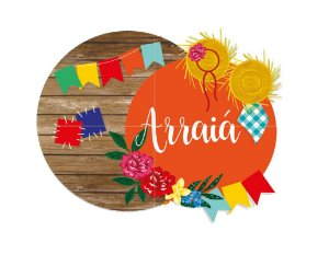 Painel Decorativo 4 Laminas Arraiá Festa Junina - 01 Unidade - Cromus Festas - Rizzo Festa