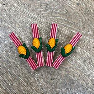 Prendedor de Festa Junina Milho - 4 unidades - Rizzo Embalagens