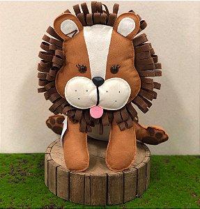 Leão do Safári em Feltro - 01 Unidade - Pé de Pano - Rizzo Festas