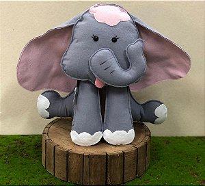 Elefante do Safári em Feltro - 01 Unidade - Pé de Pano - Rizzo Festas