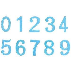 Vela de Aniversário Tracejada Azul G - 01 unidade - Cromus - Rizzo Festas