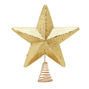 Ponteira estrela Ouro 33cm - 01 unidade - Cromus - Rizzo Embalagens