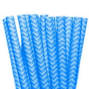 Canudo de Papel Missoni Azul - 20 unidades - ArtLille - Rizzo Festas
