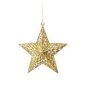 Enfeite para Pendurar Estrela Ouro Tam P 18cm - 01 unidade - Cromus Natal - Rizzo Embalagens