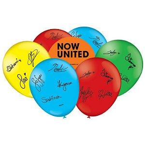 Balão Especial Festa Now United - 25 Unidades - Festcolor - Rizzo Festas