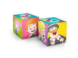 Caixa Cubo Festa Mundo Bita - 3 unidades - Regina - Rizzo Festas
