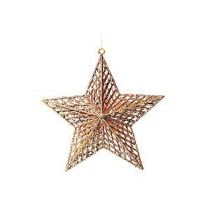 Enfeite para Pendurar Estrela Rose Gold Tam G 22cm - 01 unidade - Cromus Natal - Rizzo Embalagens