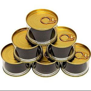 Latinha Plástico com Abridor Baixa Tipo Atum - Dourada - 6 Unidades - Art Lille