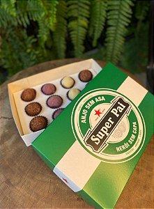 Caixa Divertida para 12 doces Super Pai Ref. 806 - 03 unidades - Erika Melkot Rizzo Embalagens