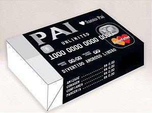 Caixa Divertida para 6 doces Pai Cartão Ref. 594 - 10 unidades - Erika Melkot Rizzo Embalagens