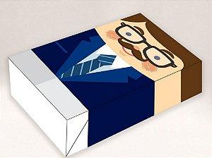 Caixa Divertida para 6 doces Pai Executivo Ref. 1036 - 10 unidades - Erika Melkot Rizzo Embalagens