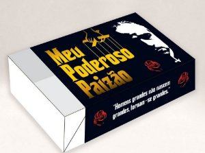 Caixa Divertida para 6 doces Poderoso Paizão Ref. 568 - 10 unidades - Erika Melkot Rizzo Embalagens