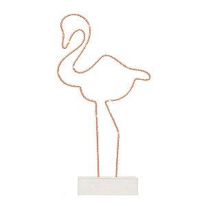 Flamingo Aramado Luminoso - 01 Unidade - Artegift - Rizzo Decorações