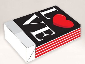 Caixa Divertida para 6 doces Love Ref. 1061 - 10 unidades - Erika Melkot Rizzo Embalagens