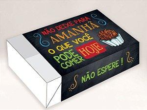 Caixa Divertida para 6 doces Não Deixe p Amanhã Ref. 487 - 10 unidades - Erika Melkot Rizzo Embalagens