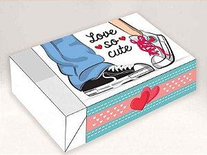 Caixa Divertida para 6 doces Love Cute Ref. 517 - 10 unidades - Erika Melkot Rizzo Embalagens